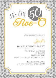 50th birthday invitation templates free printable u2013 diabetesmang info