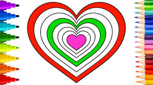 coloring book heart shape coloring pages how to draw and
