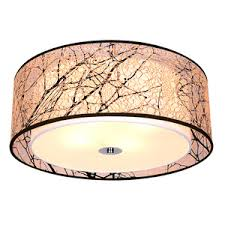 Drum Ceiling Lighting Pastoral Drum Acrylic Fabric Shade Ceiling Light Fixtures Svlt301116263 1 Jpg