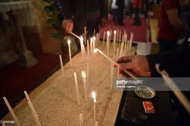 vigil lights catholic church easter vigil in turkey s mersin pictures getty images