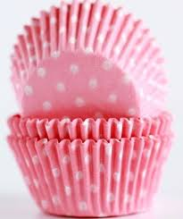 light pink polka dot muffin liners mini cupcake baking cups bulk