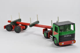 wooden truck large scale wooden truck model of a scania 112 and log carrier