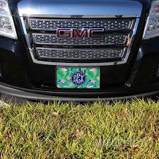 monogrammed plate monogram license plate marleylilly