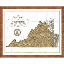 A Map Of Virginia by Map Of Virginia U0027 Framed Print Free Shipping Today Overstock