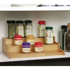 3 tier bamboo spice rack cabinet drawer tray organizer seville