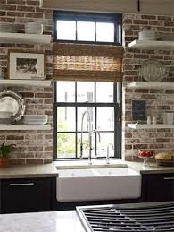 brick backsplash kitchen modern style meets charm exposed brick kitchen
