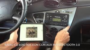 radio ford 6000 cd rds eon con aux in y bluetooth 3 0 youtube