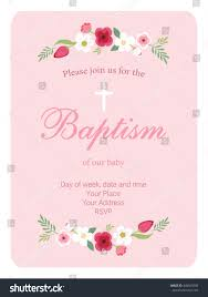 Baptismal Invitation Card Design Cute Vintage Baptism Invitation Card Hand Stock Vector 449655586