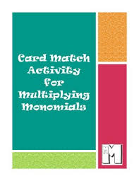 card match activity for multiplying monomials by math is marvelous
