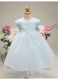 sleeve baby blue toddler flower dresses