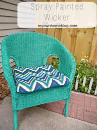 spray painted 5 wicker chair painted wicker happy colors and