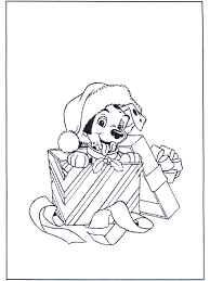 mas dog coloring pages christmas