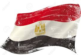Flag Egypt Flag Of Egypt In The Wind With A Texture Royalty Free Cliparts
