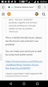 nougat update for moto m lenovo community
