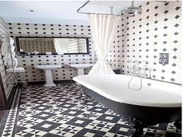 black and white tiled bathroom ideas black and white tile floor diy bath renovation from dated to