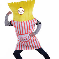 French Fry Halloween Costume Food Fun Fancy Dress Golden Fries Potato Chips French Fries Mascot