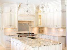 White Cabinet Kitchen Granite Countertop Color Bianco Romano Looks Like Marble Replace