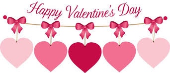 happy valentines day banner happy s day hanging hearts clipart