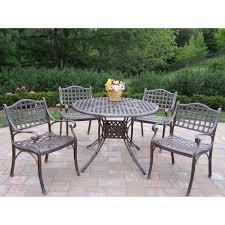 elite dining room furniture oakland living elite 5 piece patio dining set 1102 1109 5 ab the