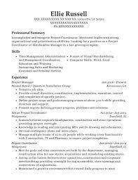 project coordinator resume best senior project coordinator resumes resumehelp