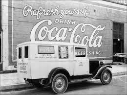vintage photos of ford coca cola delivery trucks from between
