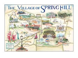 Map Of Mobile Alabama The Village Of Springhill Alabama Map Custom Map Art By Melissa