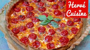 hervé cuisine quiche recette de la tarte pizza tomate mozza au top pour l apéro