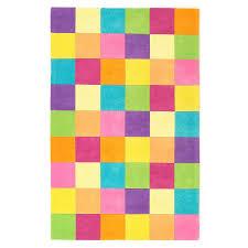 shop kas rugs playful patterns rectangular multicolor block tufted