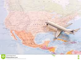 East Usa Map by Miniature Of Passenger Airplane On A Map Travel Destination Usa