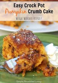 easy crock pot pumpkin crumb cake with chocolate chips amazingly