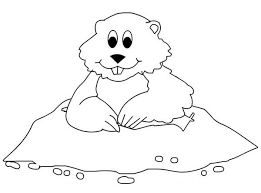 Groundhog Color Page Funycoloring Groundhog Color Page