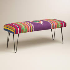 calypsa upholstered hairpin bench hairpin legs seat covers and