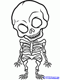 skeleton coloring easy to draw skeleton cartoon 4 gif coloring pages maxvision