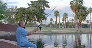 city of tempe halloween carnival wet a line in town ponds freshly stocked with catfish