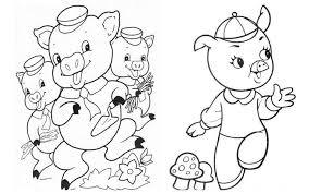 pigs black white clipart 28