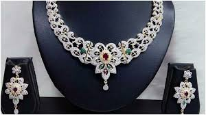 new diamond necklace images New american diamond necklace set collection jpg