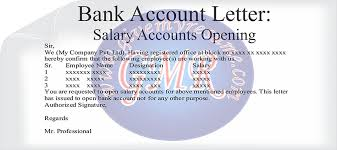 new bank account opening letter format letter format 2017