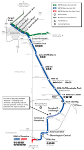 map for blue line map metro transit