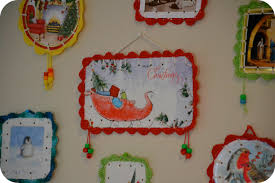 crafts with old christmas cards christmas lights decoration