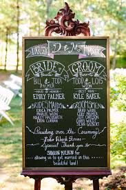 Wedding Program Chalkboard Outdoor Romance Wedding Wedding Programs Chalkboards And