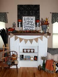 fall fireplace decor dact us