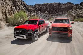 truck toyota 2015 2015 ram 1500 rebel 4x4 hemi vs 2015 toyota tundra trd pro comparison