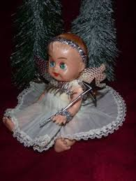 vintage tree tiny black baby roddy doll