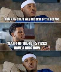 Nba Draft Memes - nba meme team on twitter best draft of the decade poormelo