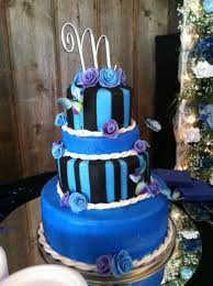 blue purple black wedding cake cakecentral com