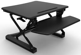 Height Adjustable Desks by Rapid Riser Black Height Adjustable Sit Stand Desk Office Stock