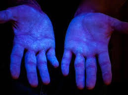 what can a black light detect glo germ visual tool for handwashing training aseptic techniques