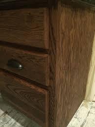how to restain cabinets darker help staining golden oak