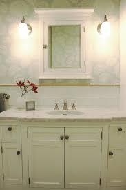 white medicine cabinet country bathroom svz interior design