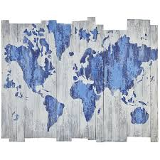 World Map Home Decor Carved Wooden World Map Wood Wall Art Home Decor Throughout On